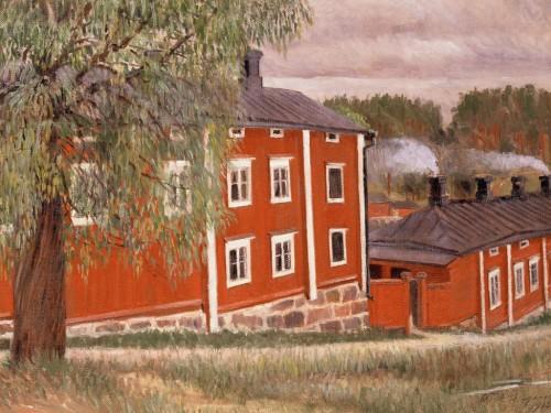 [:fi]Malmin yksityinen kuurojenkoulu Porvoossa, osoitteessa Kankurinkuja 5. Sävele Angervo, öljymaalaus, 1913. [:en]  [:sv]